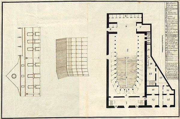 Un desconocido plano del «Coliseo de Comedias» de El Puerto de Santa María