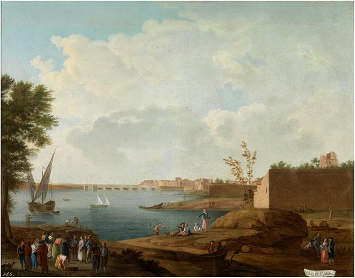 Vista dieciochesca de El Puerto de Santa María en una pintura del Museo del Prado