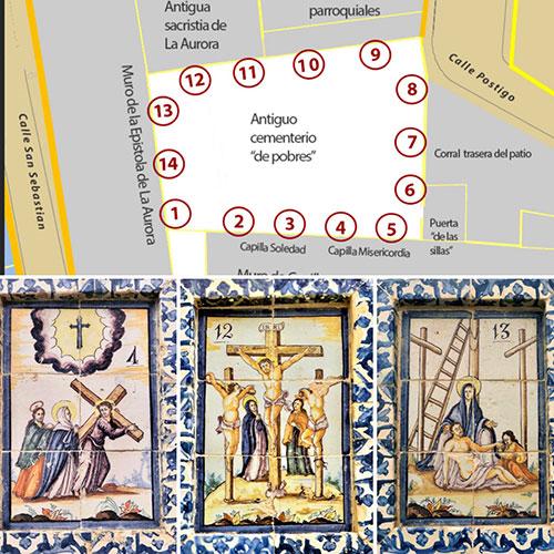 Vía Crucis en el patio de la Prioral (1ª Parte).