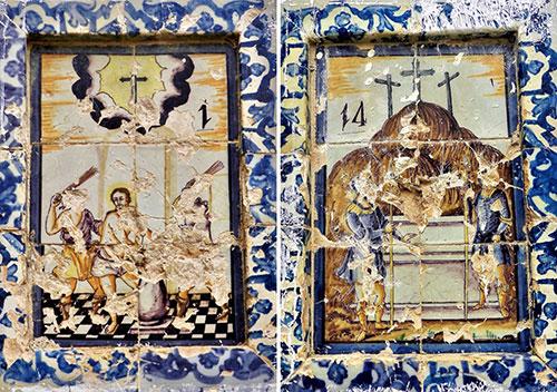 Vía Crucis en el patio de la Prioral (2ª Parte). Estado de conservación.