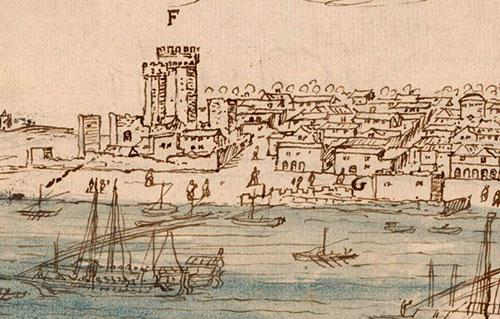 Plaza de la Pescadería – De al-Qanatir al siglo XVI. El grabado de 1567.