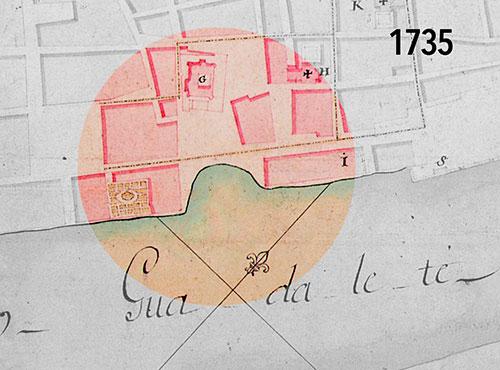 Plaza de la Pescadería – De mediados del XVII a mediados del XVIII. El plano de 1735.