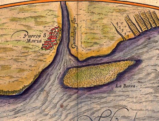 """La peligrosa travesía en barco entre Cádiz y El Puerto (J. M. Blanco White, """"Cartas de España, 1822″)."""
