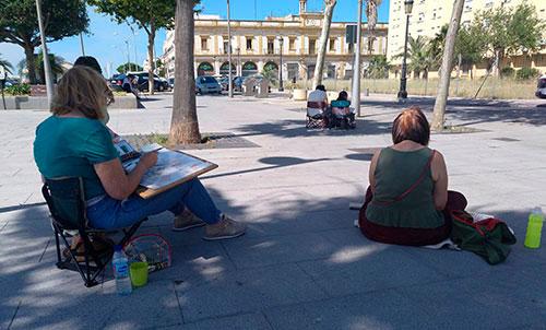 11 pintores recrean la plaza de la Pescadería.