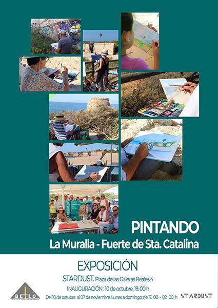 """La exposición """"Pintando la Muralla – Fuerte de Sta. Catalina"""""""